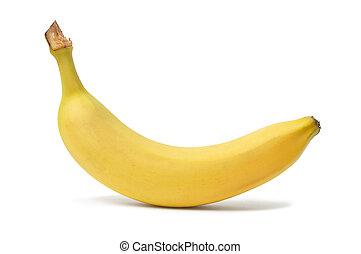 Banana - Yellow banana on white background