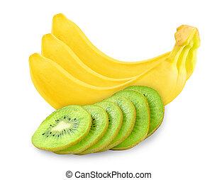 bananas and kiwi