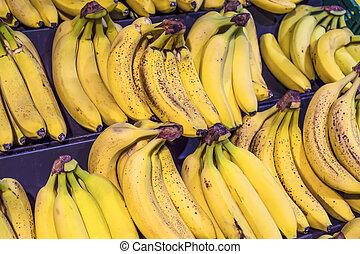 Bananas at a street market.