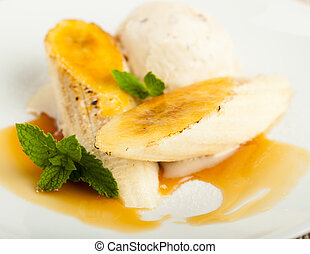 Bananas Foster With Ice Cream - A delicious sweet dish made...
