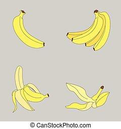 bananas icon - vector