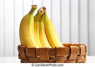 Bananas in a wicker basket