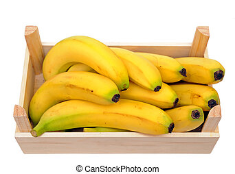 bananas in crate