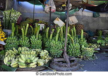Bananas for sale in Market in Hue