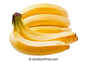 Bananas isolated on the old wooden background, food, fruit.