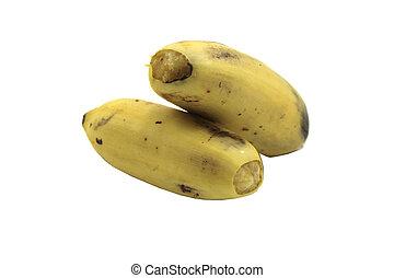 bananas isolated on white background (ripe).