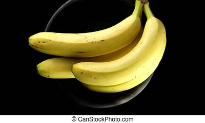 Bananas on a black background