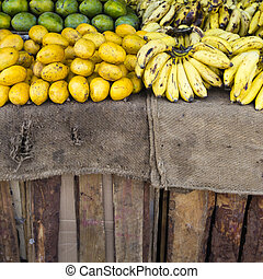 Bananas on the market