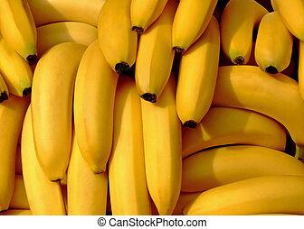 Bananas pile - Pile of fresh organic bananas on a market