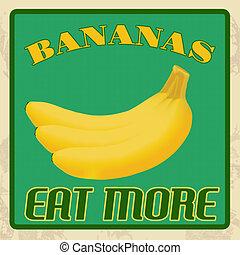Bananas vintage poster