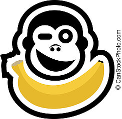 banane, affe