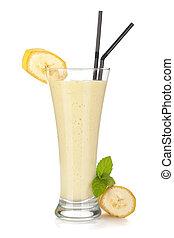 banane, lait, smoothie