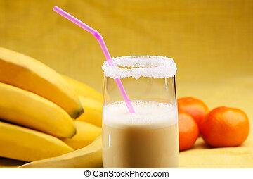 banane, orange, smoothie