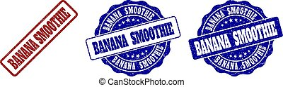 banane, smoothie, grunge, timbre, cachets
