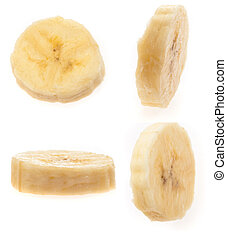 banane, tranches