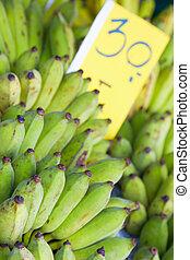 banane, verde