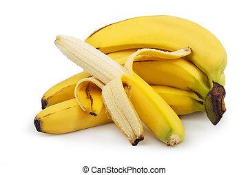 bananen, reif, freigestellt
