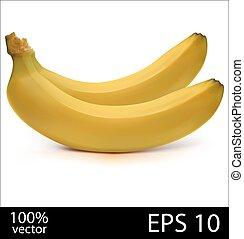 bananes, fournée, deux