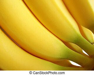 banany, żółty, grono