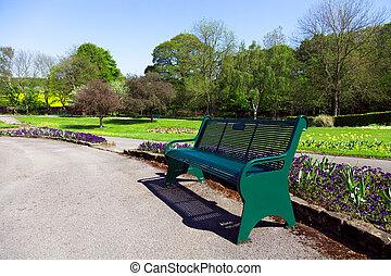 banc, dans parc