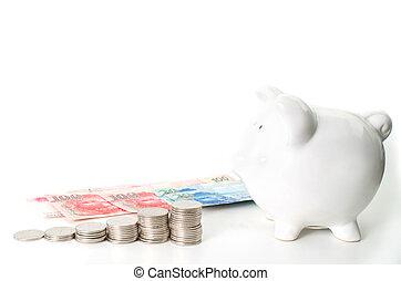 banca, blanco, concepto, ahorro, plano de fondo