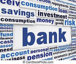 banca, manifesto, disegno