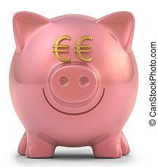 banca piggy, euro