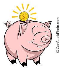 banca piggy, felice