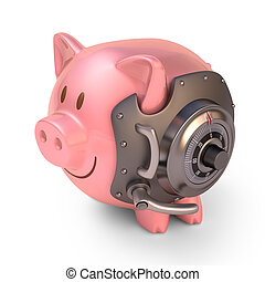 banca piggy, scudo