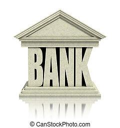 banco, 3d, ícone