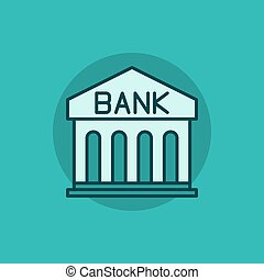 banco, apartamento, vetorial, ícone