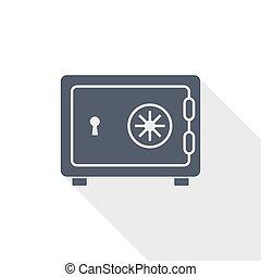 banco, apartamento, vetorial, ilustração, desenho, conceito, ícone, cofre, negócio