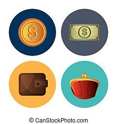 banco dinheiro, poupança, economia global