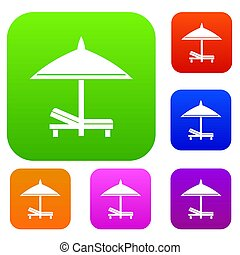 banco, e, guarda-chuva, jogo, cobrança