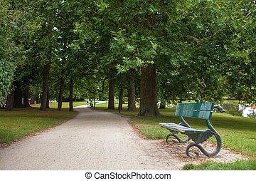 banco, en el parque, bancos