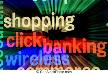 banco on-line, e, shopping
