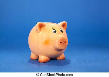 banco piggy azul