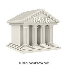banco, predios, isolado