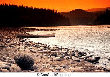 banco rio, canoa