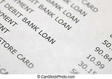 banco, y, declaración de tarjeta de crédito