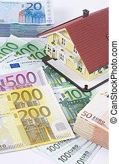 banconote, casa
