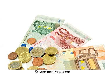 banconote, monete, euro