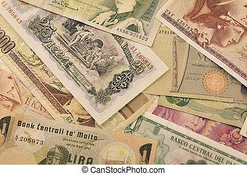 banconote, valute, vecchio