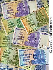 banconote, zimbabwe