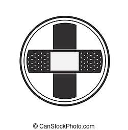 Band Aid Cross Logo