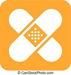 Band Aid - Band, aid, medical, bandage icon vector image....