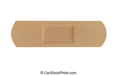 Band aid isolated on white