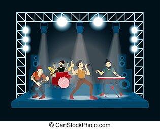 band, an, concert.