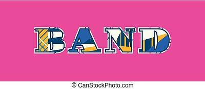 Band Concept Word Art Illustration