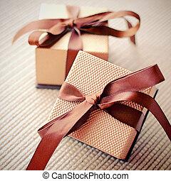 band, gåva, verkan, filtrera, rutor, lyxvara, retro